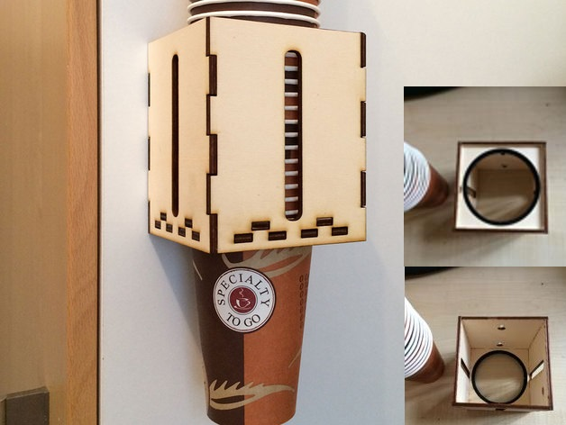 Disposable Cup Holder DXF File