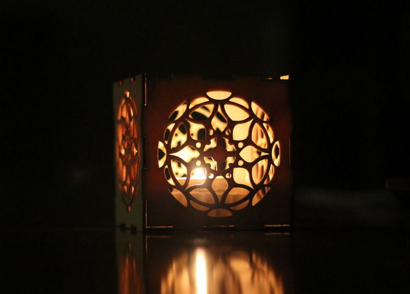 Laser Cut Nightlight Box Lamp Template Free Vector