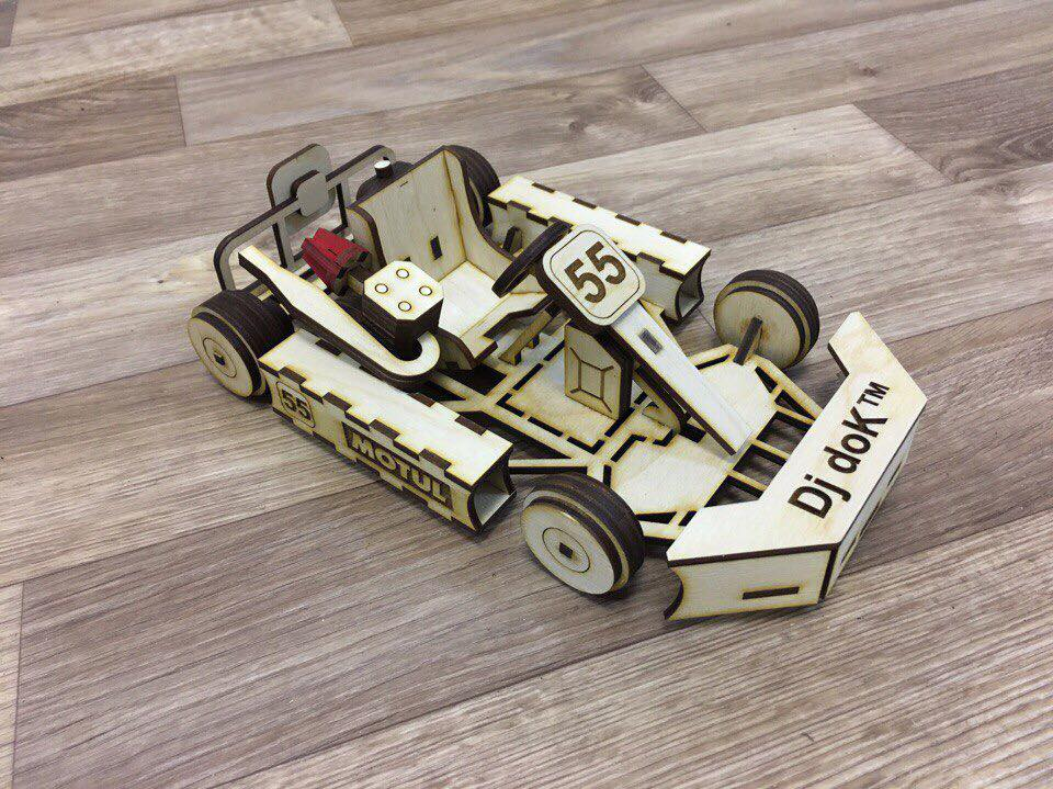 Laser Cut Go Kart Car 3mm Free Vector