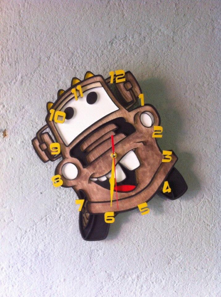 Laser Cut Kid Room Clock Template Free Vector