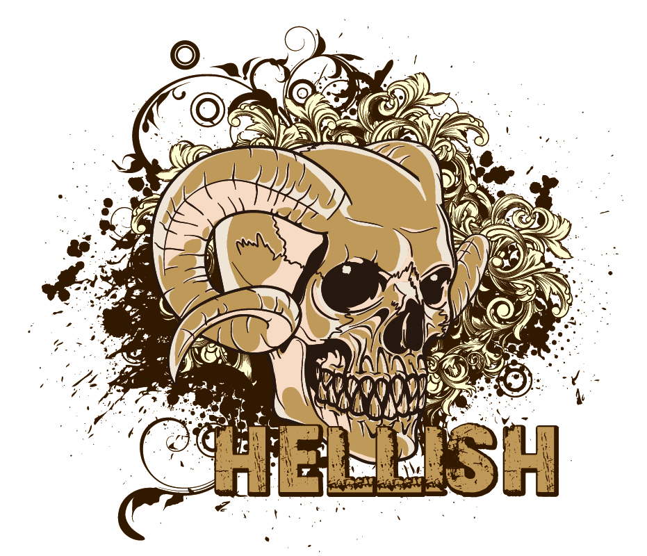 Grunge T Shirt Design Free Vector