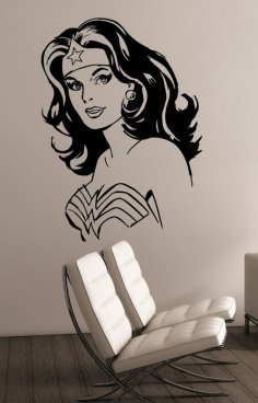 Girl Wall Art DXF File
