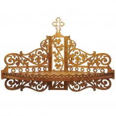 Laser Cut Wooden Shelf for Icons Christian Home Altar SVG File