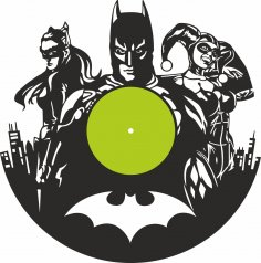 Laser Cut Batman Clock Free Vector