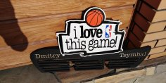 Laser Cut NBA I Love This Game Basketball Medal Hanger Free Vector