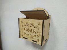 Laser Cut Decor Wall Mounted Box with Lid Template Free Vector
