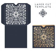 Laser Cut Wedding Invitation Card Design Template Free Vector
