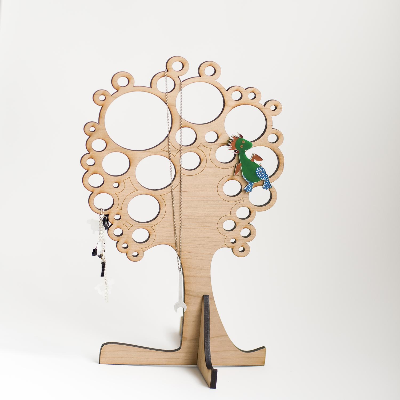 Laser Cut Jewellery Tree 7mm Template Free Vector