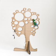 Laser Cut Jewellery Tree 7mm Template Free Vector