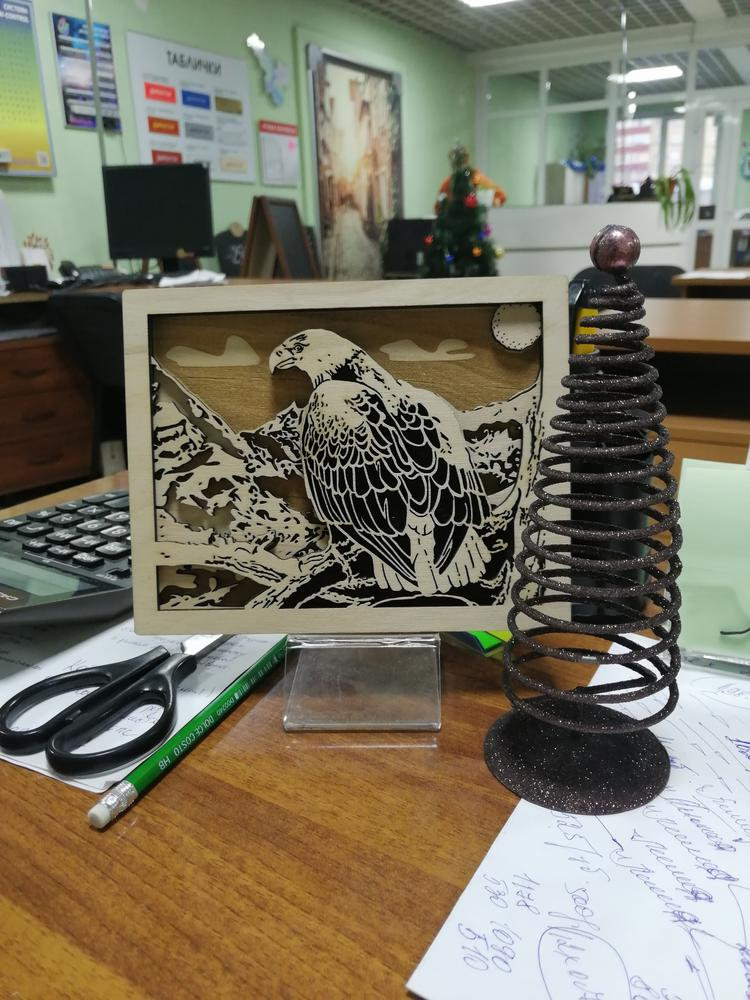 Laser Cut Layered Eagle Drawing Template Free Vector