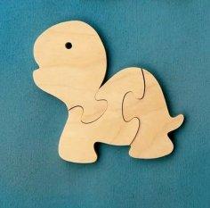 Wooden Tortoise Jigsaw Puzzle Laser Cut CNC Plans DWG File