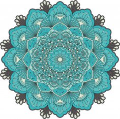 Retro Green Mandala Free Vector