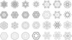 Mandalas Set Mehndi Design Free Vector