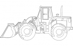 Caterpillar Bulldozer DXF File
