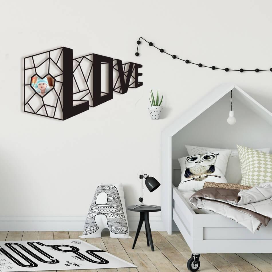 Laser Cut 3D Love Wall Decor Free Vector