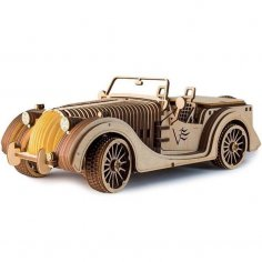 Laser Cut Classic Roadster Car Toy 3D Puzzle Free Vector
