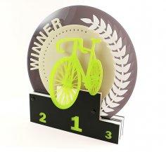 Laser Cut Acrylic Cycling Trophy PDF File