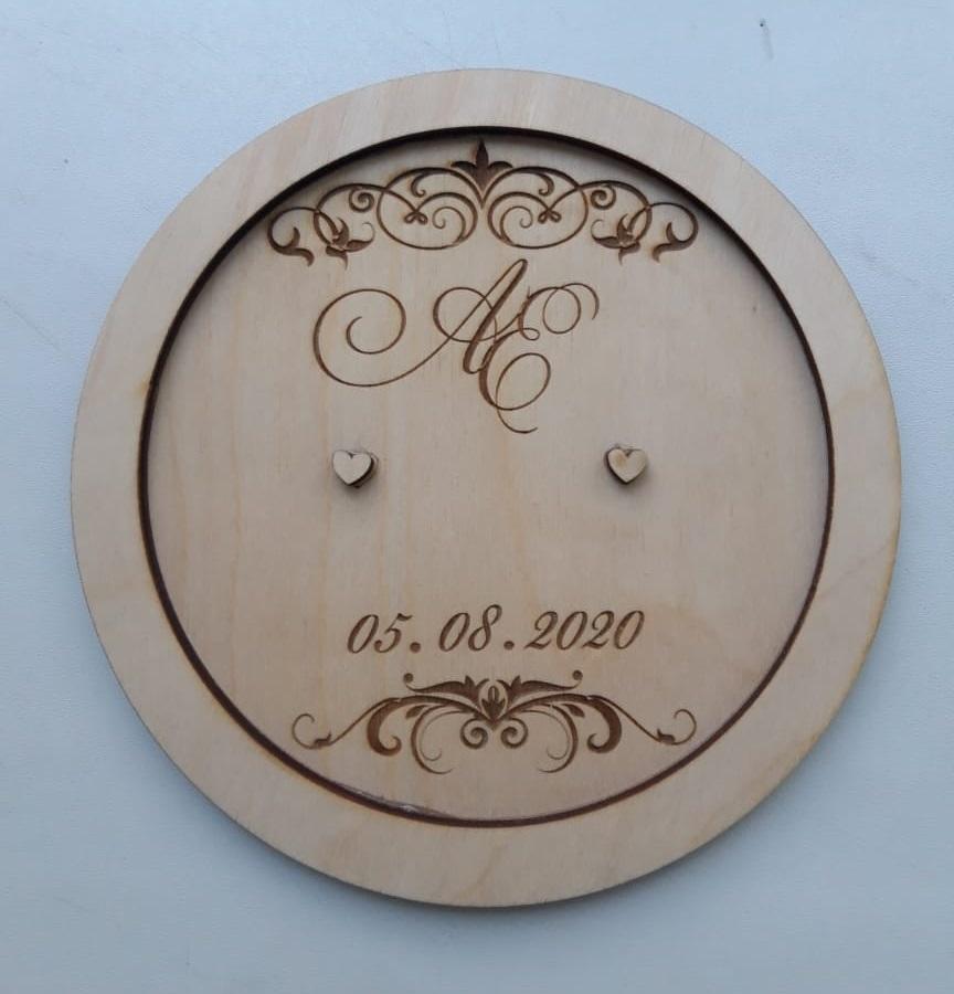 Laser Cut Personalised Ring Holder Engagement Ring Platter Free Vector