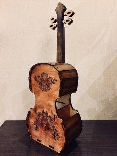 Laser Cut Cello Violin Tea House Free Vector