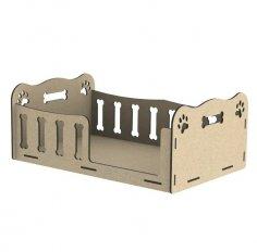 Laser Cut Wooden Pet Dog Bed Free Vector