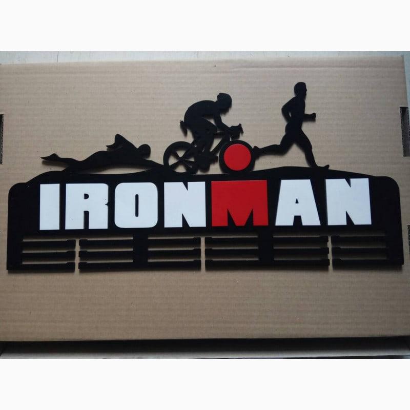 Laser Cut Ironman Medal Hanger Free Vector