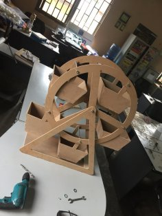 Laser Cut Ferris Wheel 3mm DXF File