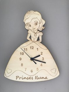 Laser Cut Princess Clock SVG File