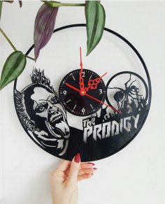 Laser Cut The Prodigy Vinyl Record Wall Clock Free Vector