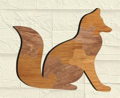 Laser Cut Fox Jigsaw Puzzle Free Vector