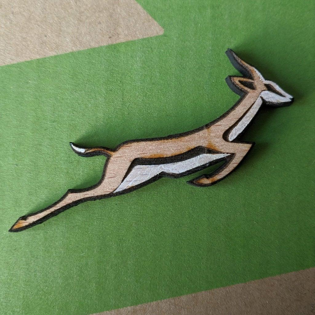 Laser Cut Springbok Pin Badge DXF File