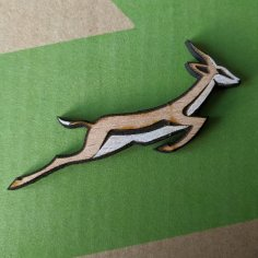 Laser Cut Springbok Pin Badge DXF File