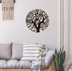 Laser Cut Tree Wall Art Tree Of Life Free Vector