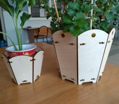 Laser Cut Plant Stand Home Decor 3mm Free Vector