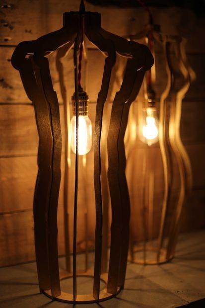 Laser Cut Night Light Lamps Free Vector