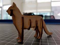 Laser Cut Cat 3D Puzzle Free Vector