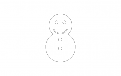Snowman Icon dxf file