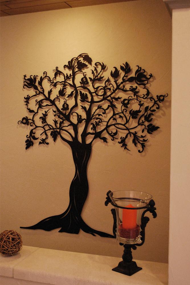 Laser Cut Decorative Wall Tree Free Vector