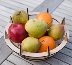 Laser Cut Fruit Bowl 4mm Free Vector