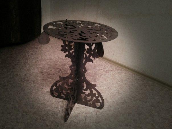 Laser Cut Decorative Table DXF File