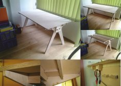 Plywood Computer Table CNC Router Laser Plans Free Vector