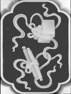 3D Grayscale Image 105 BMP File