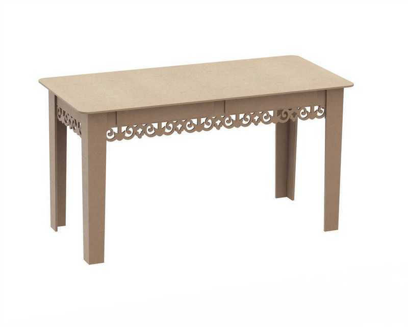 Decorative Wooden Table DXF File