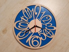 Plywood Clock Laser Cut Free Vector