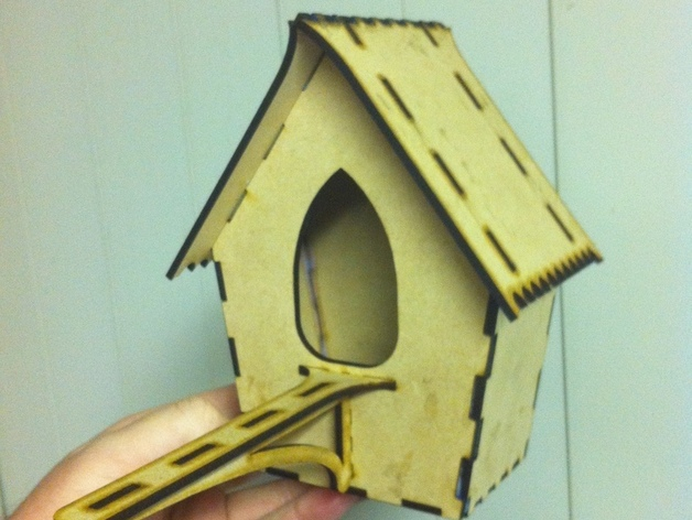 Bird House Laser Cut Free Vector