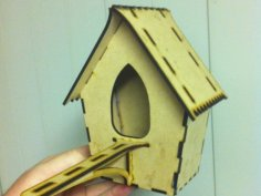 Bird House Laser Cut Free Vector