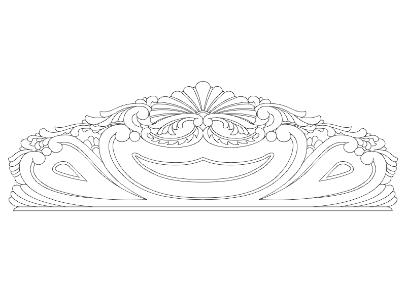 Wooden Bed Head Design CNC Router Free Vector