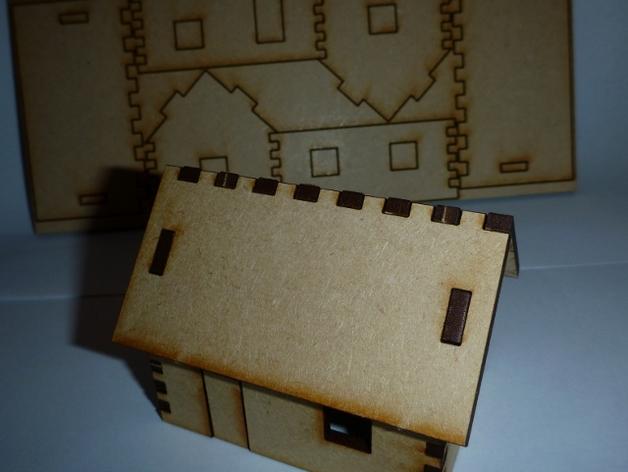 Tiny Laser Cut House DXF File