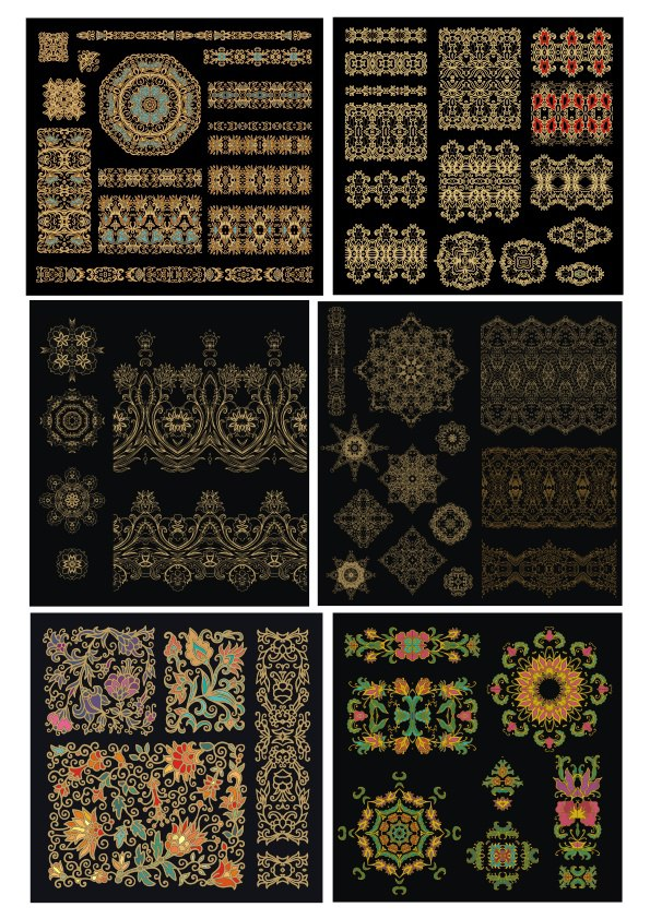 Golden Mandala Luxury Design Elements Free Vector