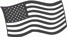 Free American Flag DXF File