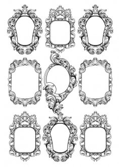 Baroque Frames Set Free Vector